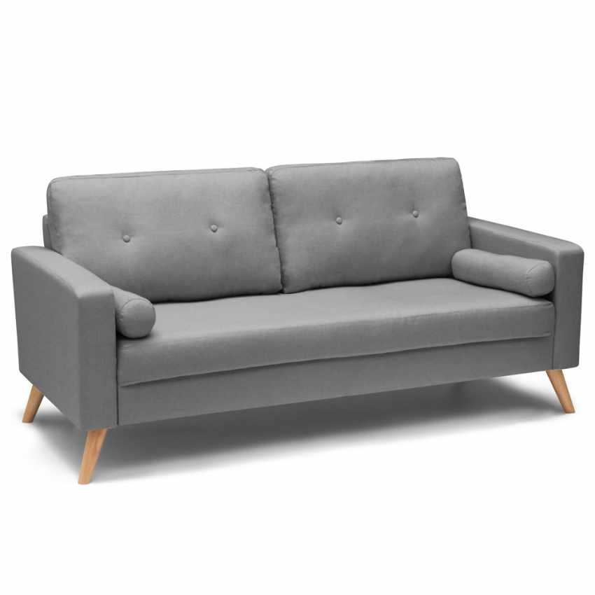 Canapé Design Moderne Style Scandinave en Tissu 3 Places pour salon et salle à manger ACQUAMARINA - indoor