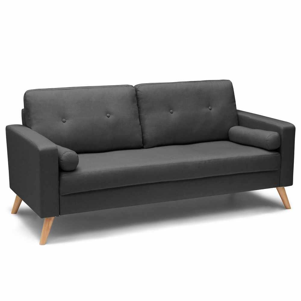 Couch Sofa Modern Design Skandinavisch Stil Stoff 3-Sitzer
