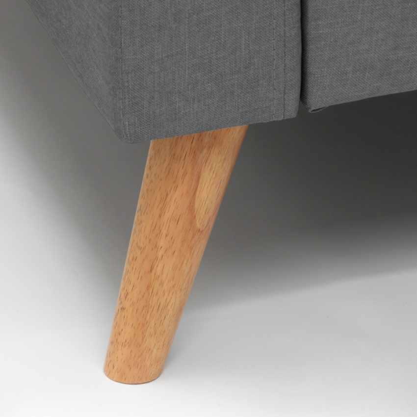 Divano Design Moderno Stile Scandinavo In Tessuto 3 Posti per salotto e cucina ACQUAMARINA - new