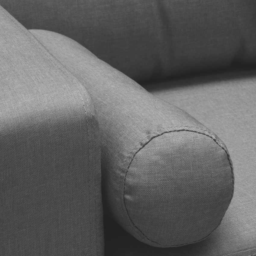 Divano Design Moderno Stile Scandinavo In Tessuto 3 Posti per salotto e cucina ACQUAMARINA - promo