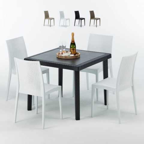 Sedie Tavolini Bar.Sedie E Tavoli Polyrattan Per Giardino Esterni E Bar