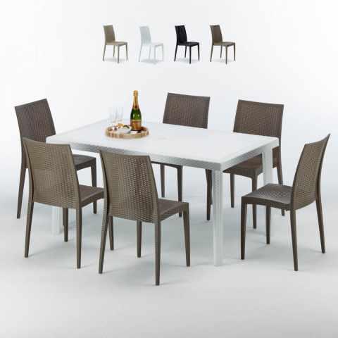 Tavolo Piu Sedie Da Esterno.Sedie E Tavoli Polyrattan Per Giardino Esterni E Bar Modelli E Prezzi