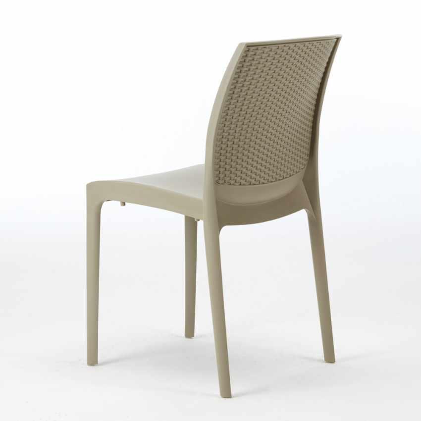 Tavolino Quadrato Bianco 90x90 cm con 4 Sedie Colorate BOHÈME LOVE - best