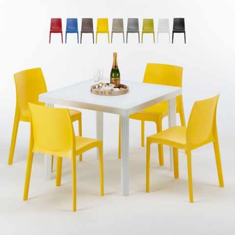 Sedie E Tavoli Da Esterno Per Bar Usati.Sedie E Tavoli Polyrattan Per Giardino Esterni E Bar Modelli E Prezzi