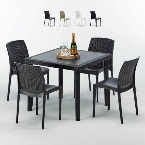 Sedie E Tavoli In Vimini.Sedie E Tavoli Polyrattan Per Giardino Esterni E Bar