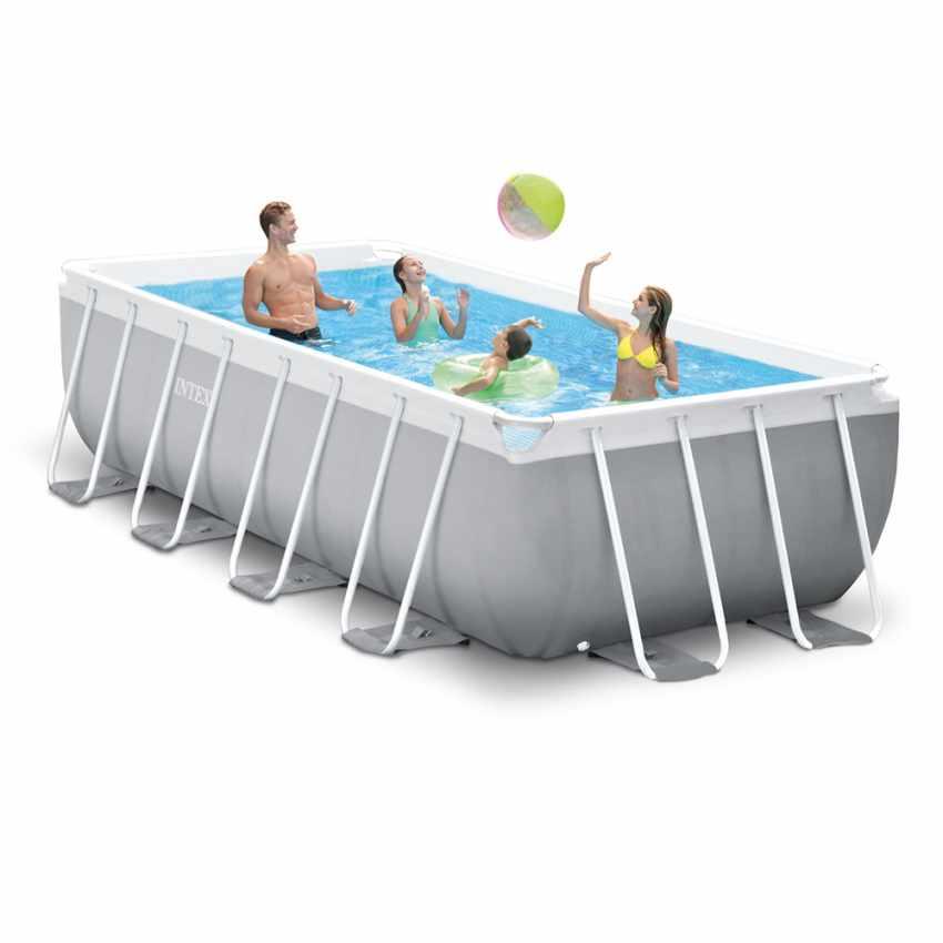 piscine hors sol autoportante rectangulaire prism frame intex 26788 ex 26776 400 x 200 x 100 cm. Black Bedroom Furniture Sets. Home Design Ideas
