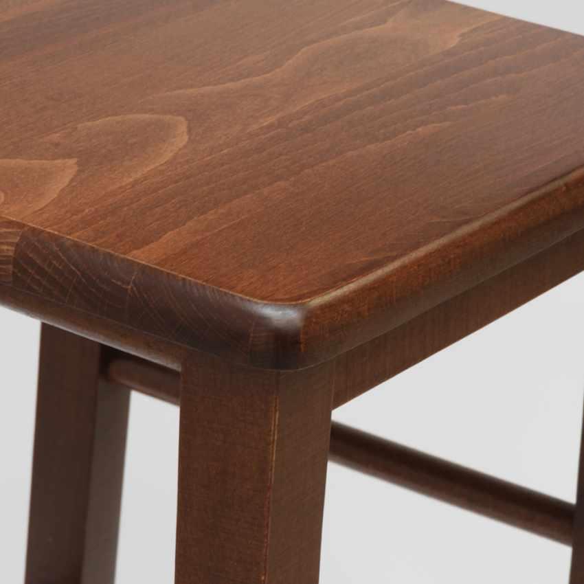 Sgabello da bar e cucina in legno design quadrato DORTMUND - photo