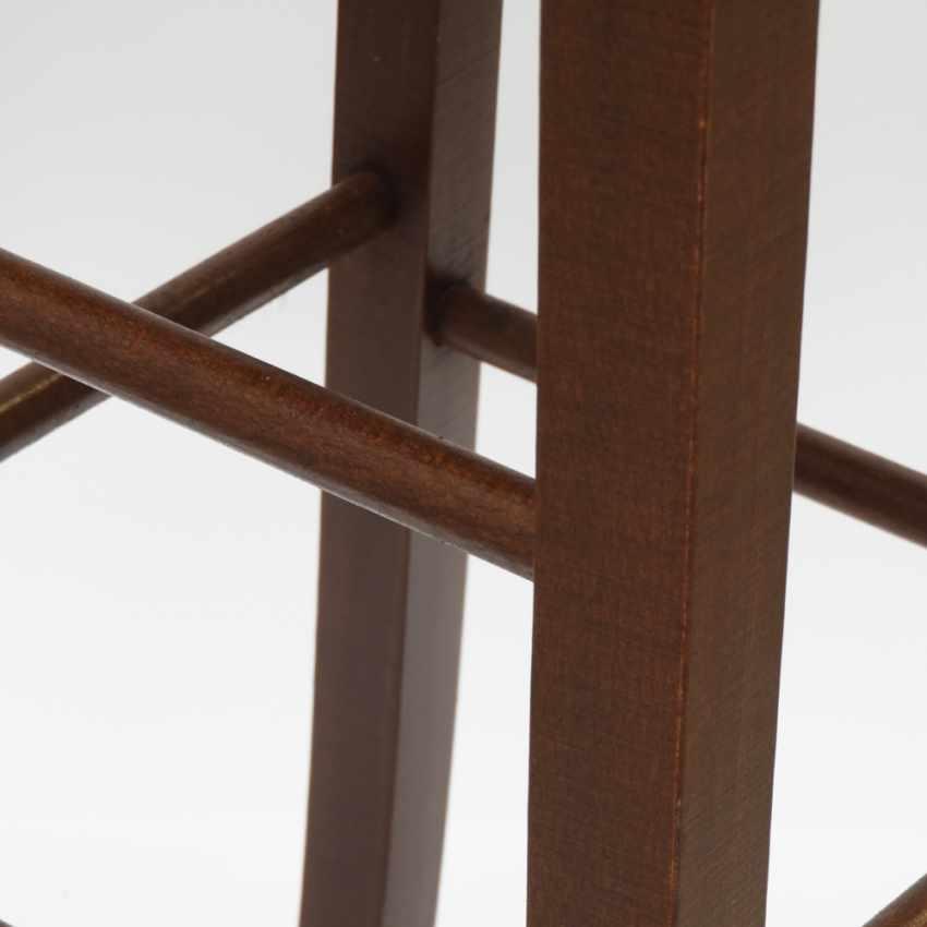 Sgabello da bar e cucina in legno design quadrato DORTMUND - new