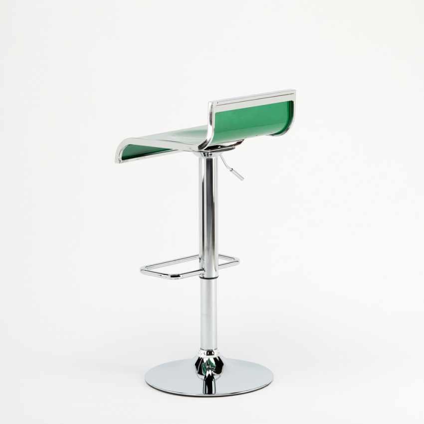 Sgabello da bar cucina alto fisso girevole regolabile poggiapiedi FLORIDA - forniture