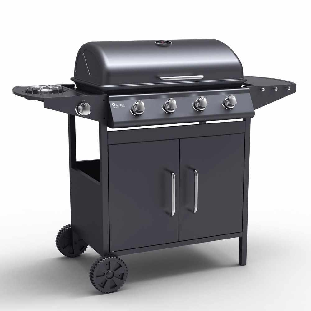 Barbecue A Gas In Acciaio Inox Con 4+1 Bruciatori E Griglia Ayrshire
