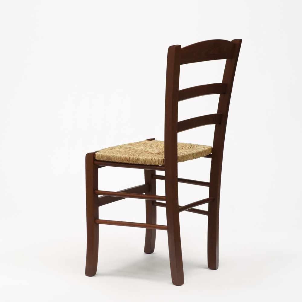 Sedia-in-legno-e-seduta-impagliata-per-cucina-bar-e-trattoria-rustica-PAESANA miniatura 21