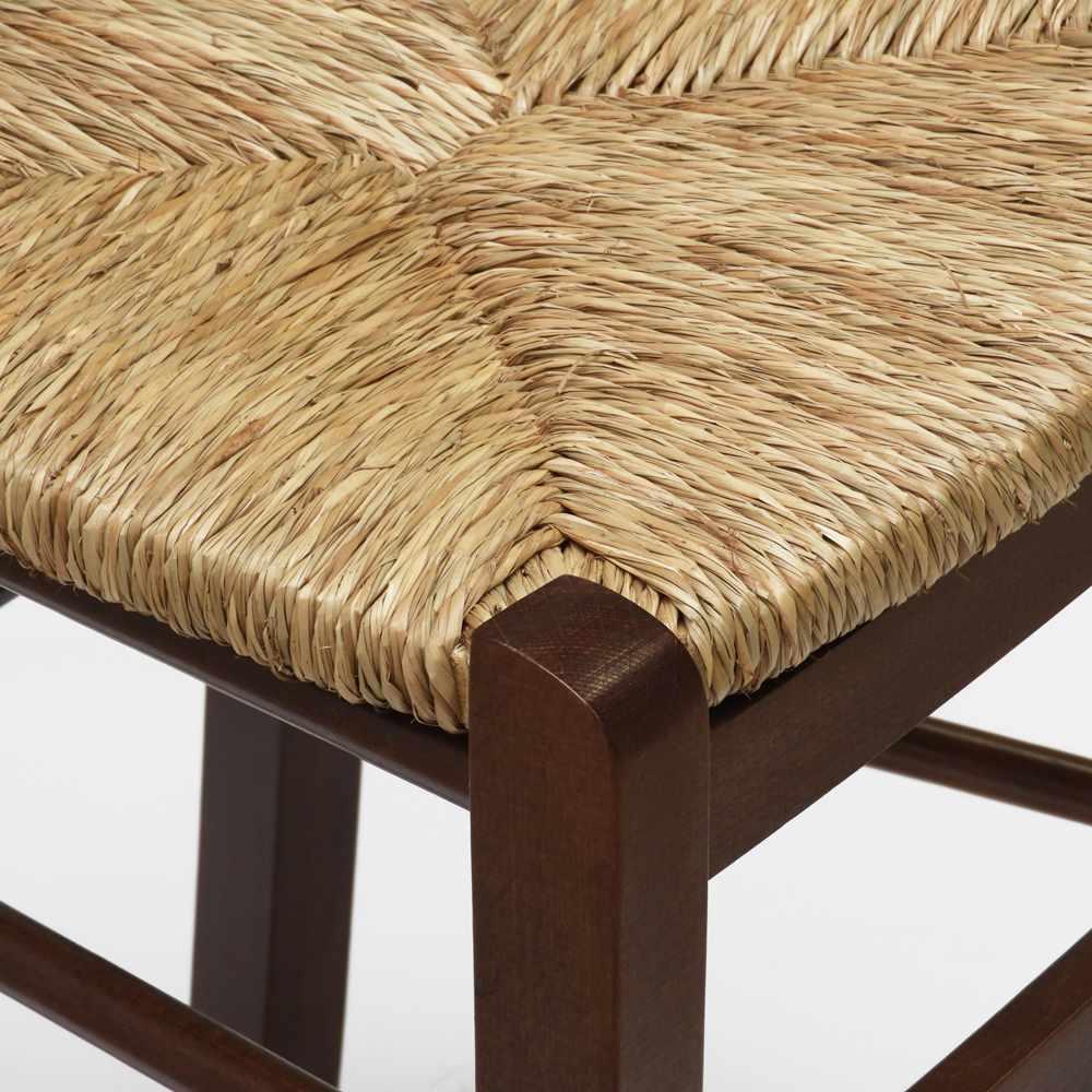 Sedia-in-legno-e-seduta-impagliata-per-cucina-bar-e-trattoria-rustica-PAESANA miniatura 22