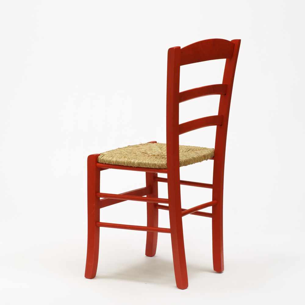 Sedia-in-legno-e-seduta-impagliata-per-cucina-bar-e-trattoria-rustica-PAESANA miniatura 26