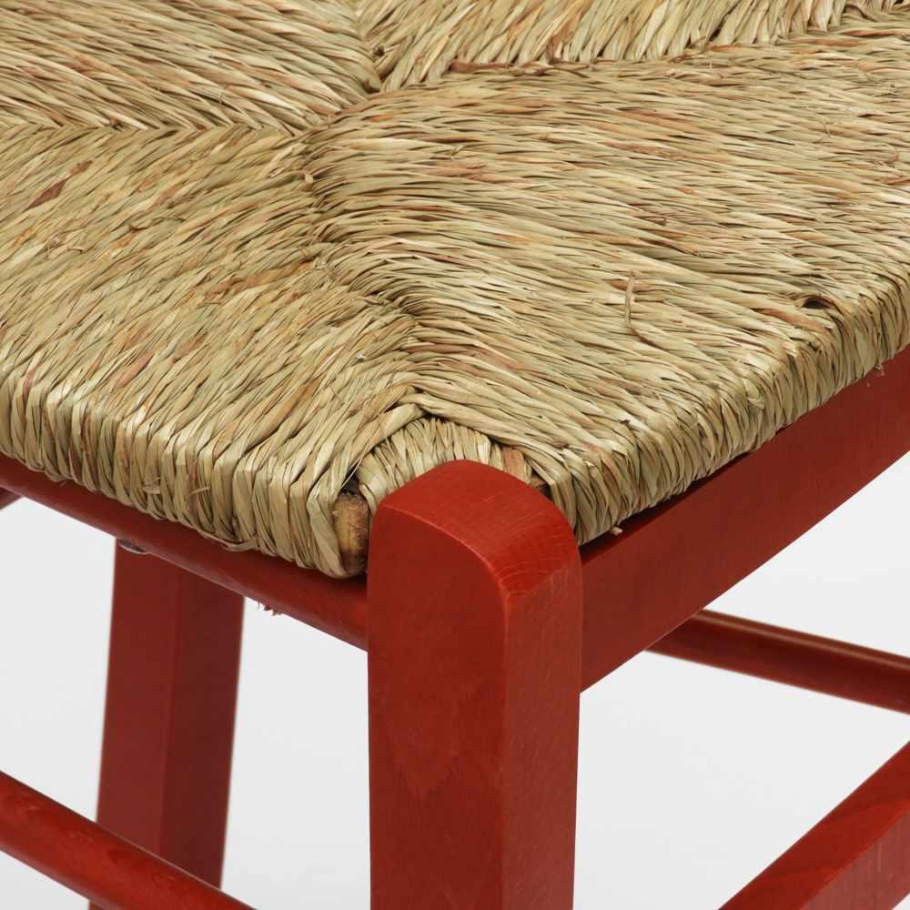 Sedia-in-legno-e-seduta-impagliata-per-cucina-bar-e-trattoria-rustica-PAESANA miniatura 27