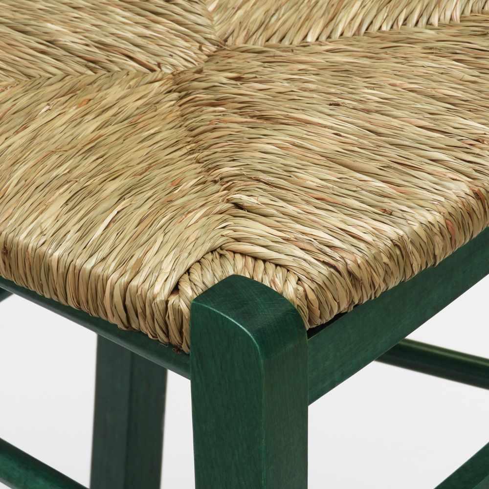 Sedia-in-legno-e-seduta-impagliata-per-cucina-bar-e-trattoria-rustica-PAESANA miniatura 42