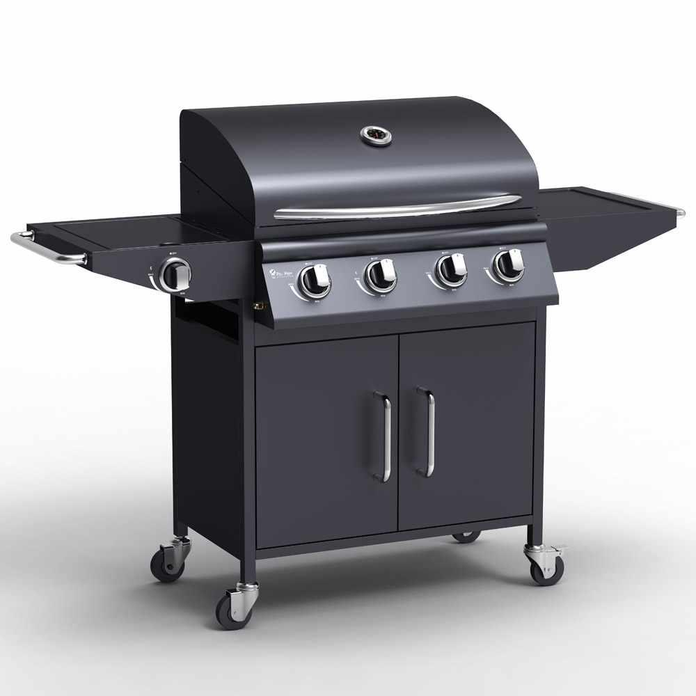 copy of Barbecue professionale a gas in acciaio inox con 4+1 bruciatori e griglia Red Angus - Angebot