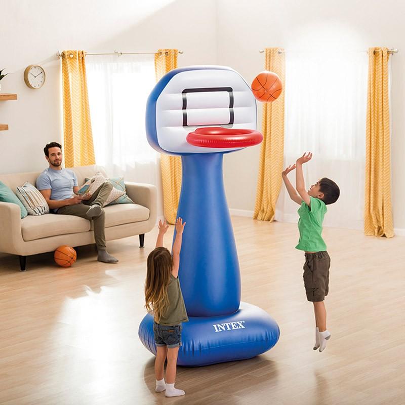 57502 - Canestro Basket Intex 57502 Gonfiabile con Palla per Casa e Giardino -