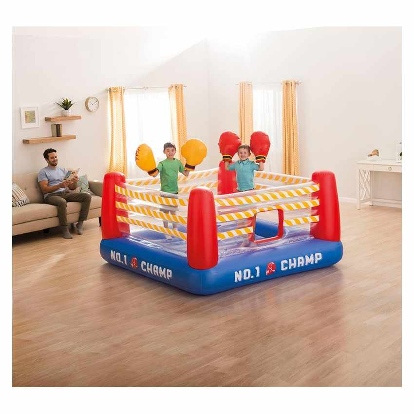 Inflatable boxing ring and gloves for kids Intex 48250
