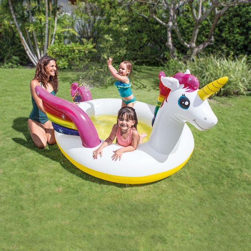 57441 - Piscina per Bambini Intex 57441 Unicorno Gonfiabile -