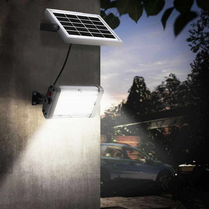 Faretto luce solare Led 1000 lumen da esterno FLOOD - outdoor