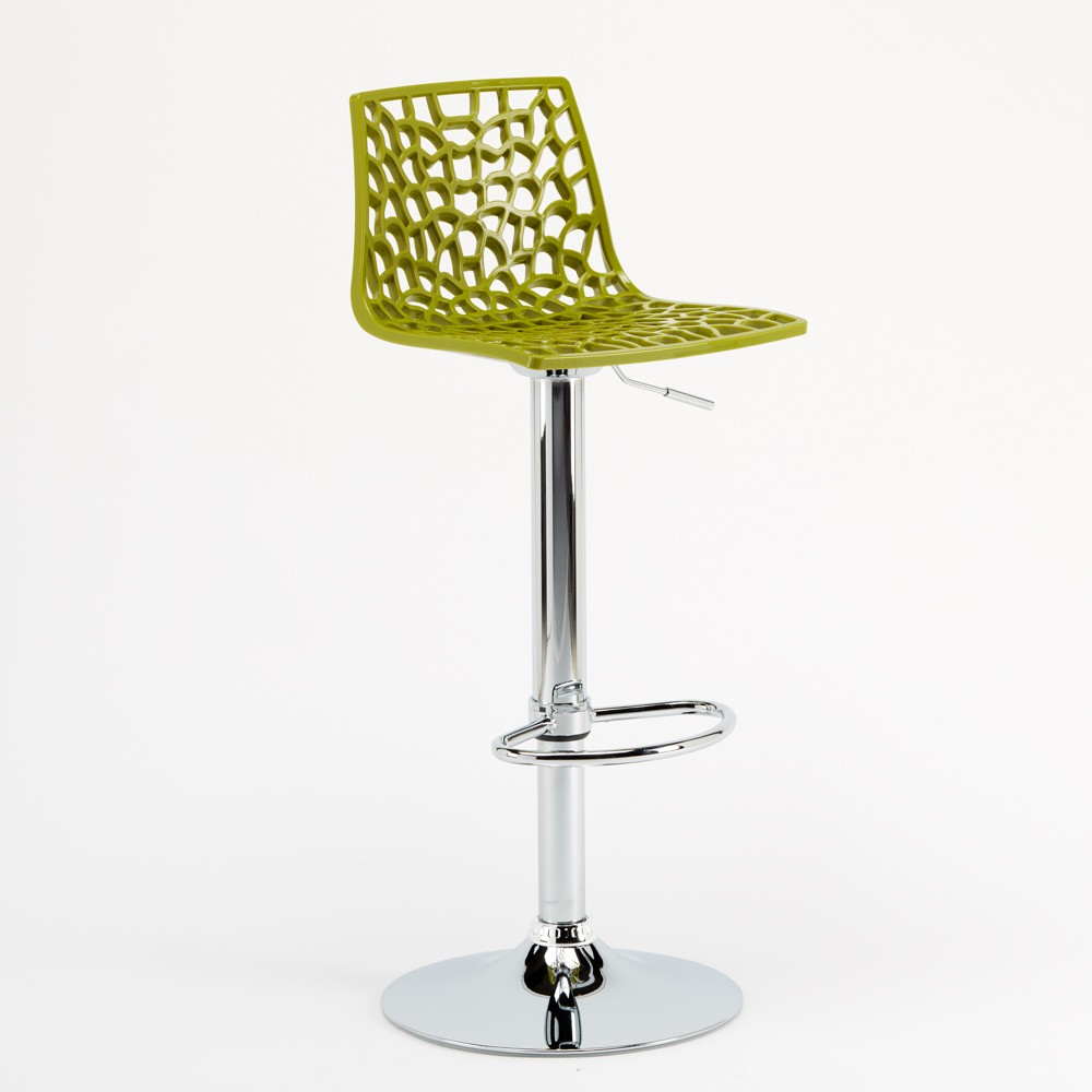 miniature 33 - Tabouret Grand Soleil SPIDER pour bar café cuisine haut fixe
