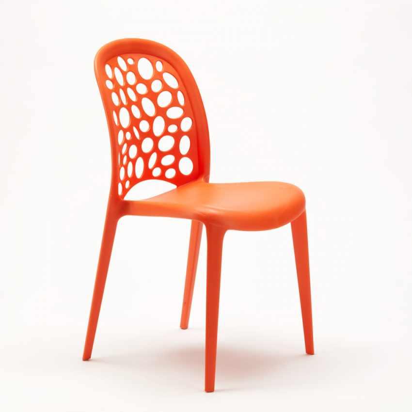 table ronde blanche 70x70cm avec 2 chaises color es set. Black Bedroom Furniture Sets. Home Design Ideas
