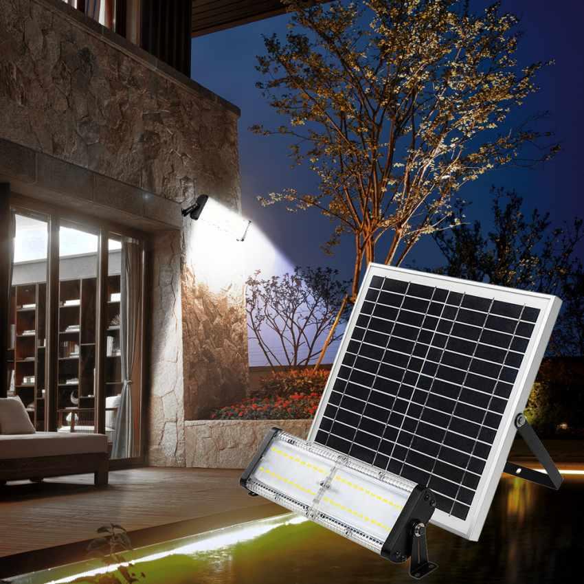 Lampe lumière solaire Led jardin et extérieur 5000 Lumens FLOOD - immagine