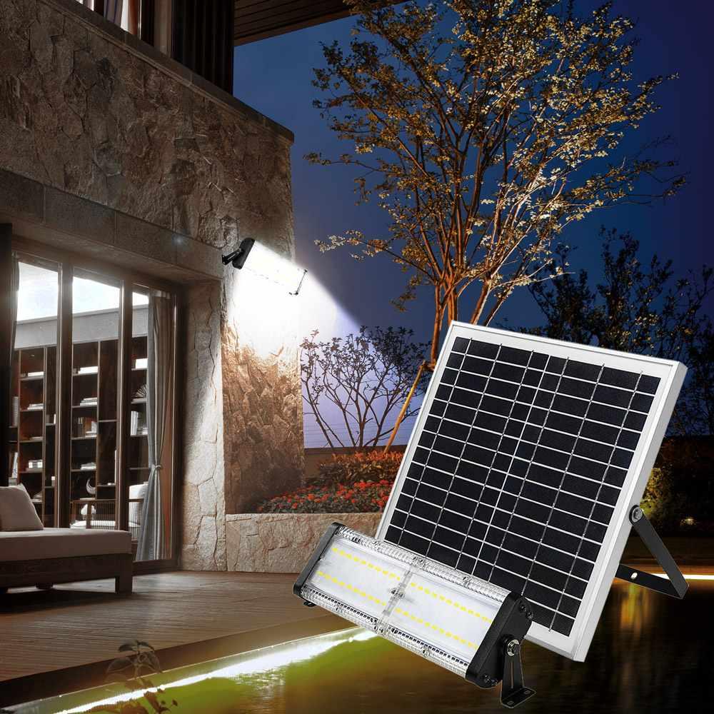 Faretto luce led solare per giardino ed esterno 5000 lumen Flood