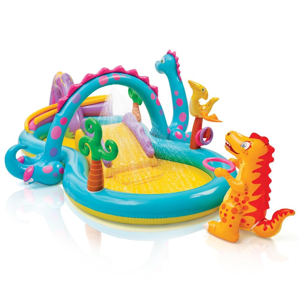 57135 - Piscina gonfiabile bambini Intex 57135 Dinoland Play Center gioco -