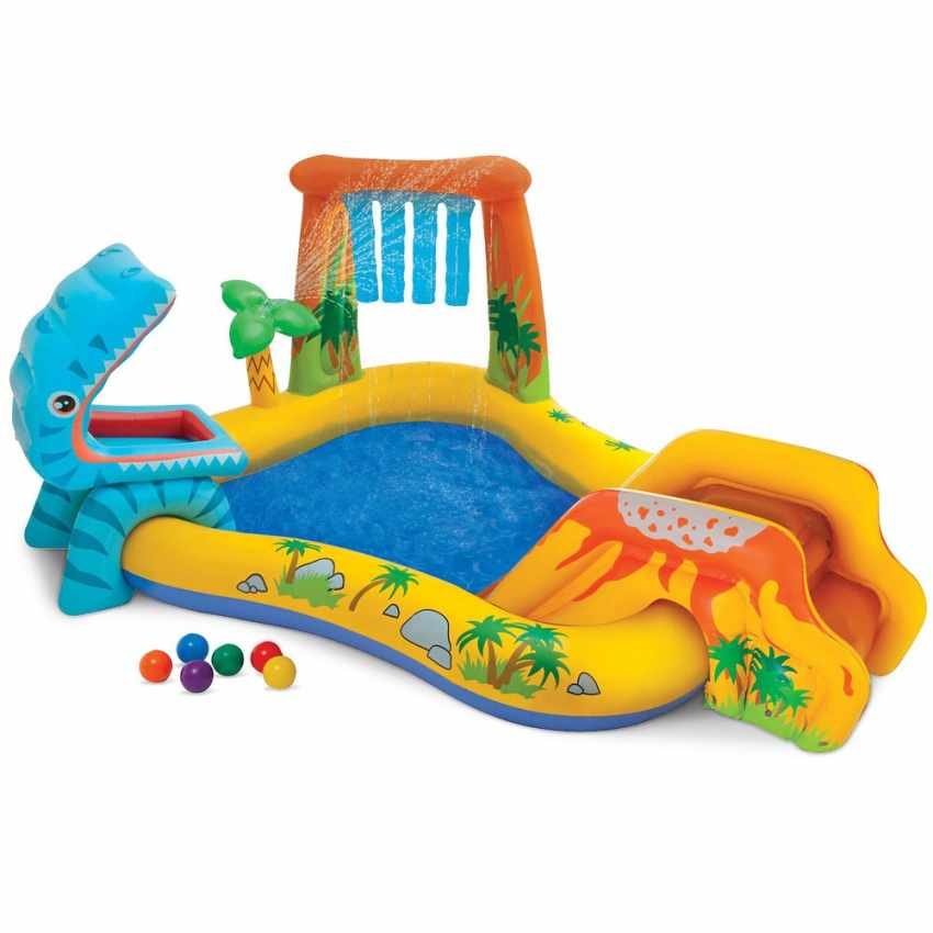 Intex 57444 Play Center Dinosaur aufblasbarer Kinderpool Planschbecken - new