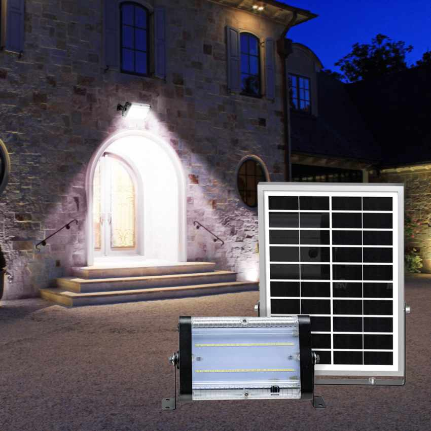 Lampe lumière solaire led jardin et extérieur 3000 lumens FLOOD - immagine