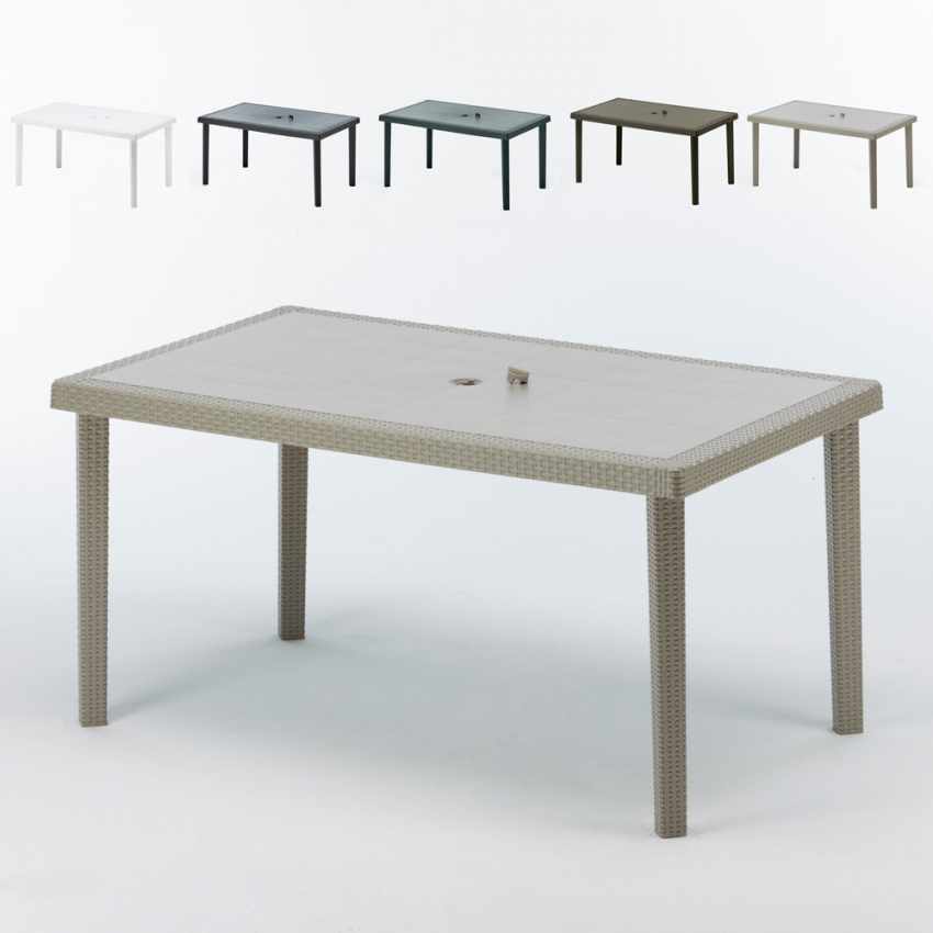 Tavoli Da Giardino Larghi 70 Cm.Tavolo In Polyrattan Per Giardino Esterni Bar 150x90 Cm Boheme Grand
