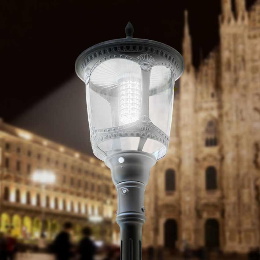 Photovoltaik Straßenlampe mit Solarplatte Solarleuchte viktorianischer Stil MILANO - photo