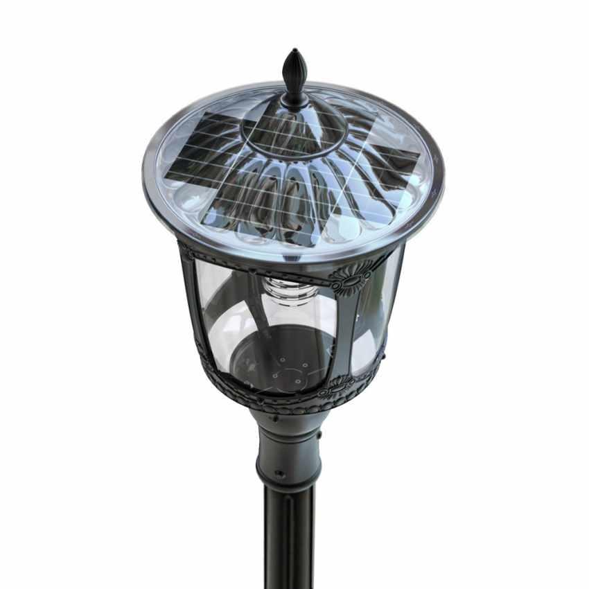 lampadaire solaire led pour ext rieur en style victorien. Black Bedroom Furniture Sets. Home Design Ideas