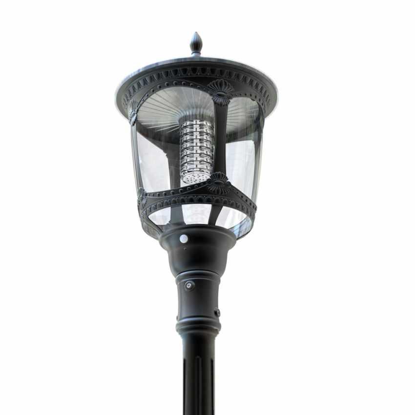 Photovoltaik Straßenlampe mit Solarplatte Solarleuchte viktorianischer Stil MILANO - indoor