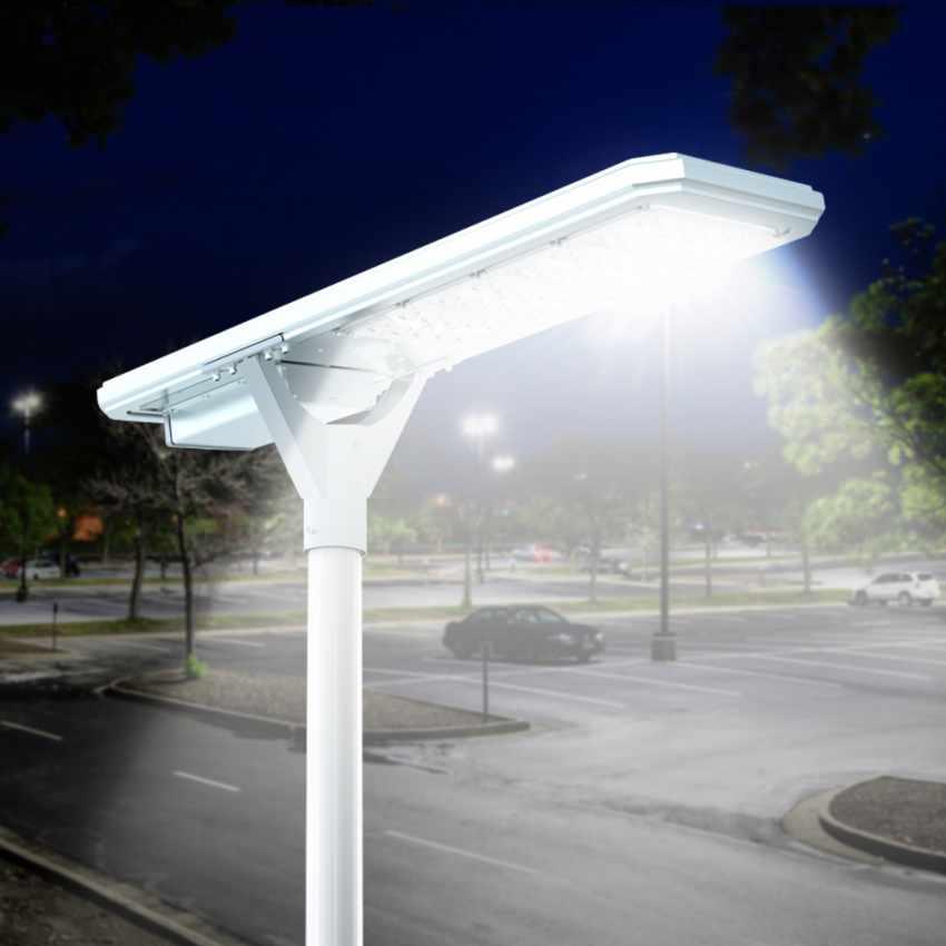 Straßenlampe 4000 Lumens Solarplatte und Sensoren Photovoltaik MEGATRON - details