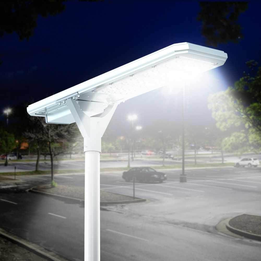 LS4000LED - Lampione solare stradale Led 4000 lumen pannello e sensori integrati Megatron -