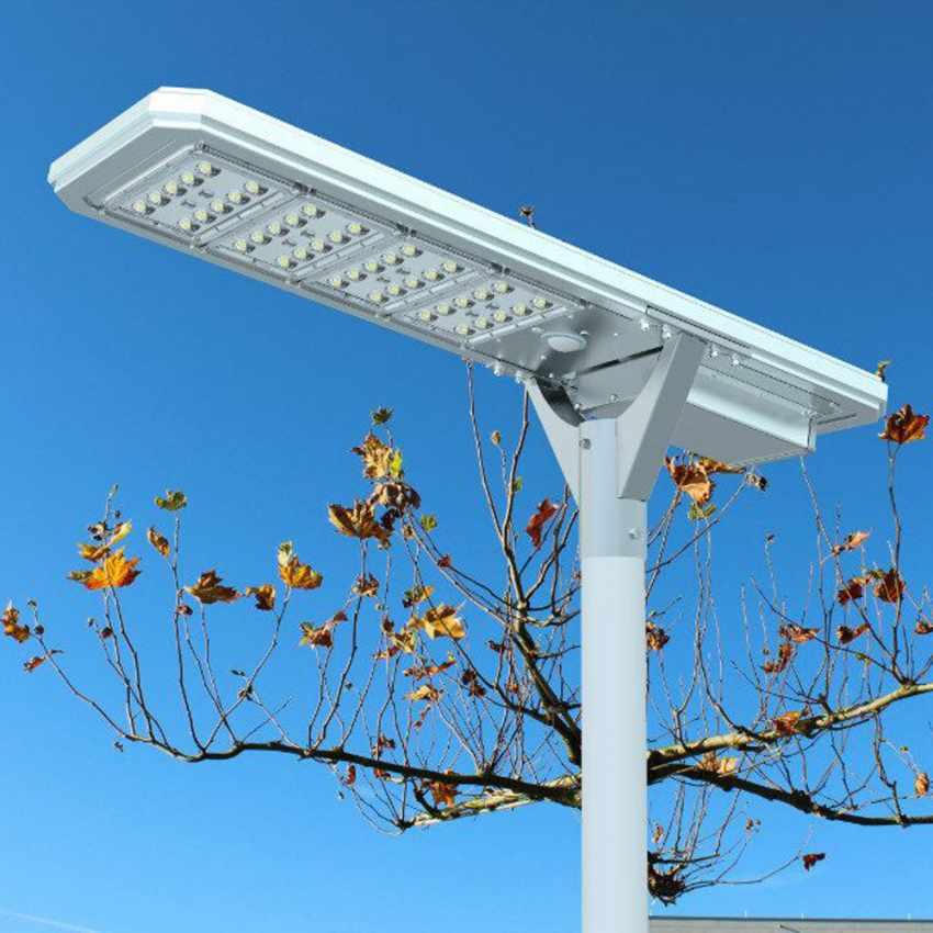 Straßenlampe 4000 Lumens Solarplatte und Sensoren Photovoltaik MEGATRON - best