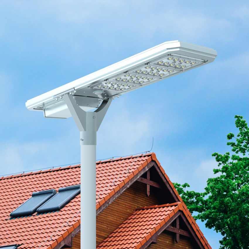 Straßenlampe 4000 Lumens Solarplatte und Sensoren Photovoltaik MEGATRON - offert