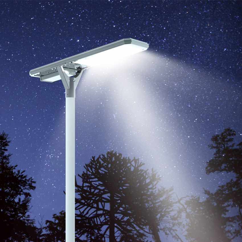Straßenlampe 4000 Lumens Solarplatte und Sensoren Photovoltaik MEGATRON - outdoor