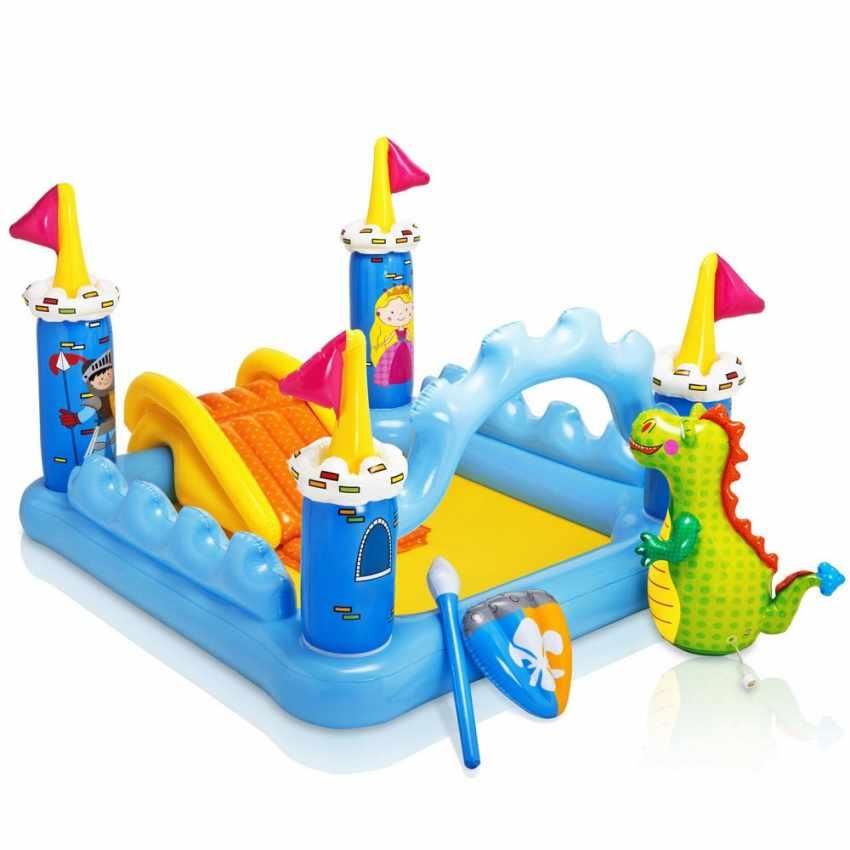 Piscina hinchable para niños Intex 57138 Fantasy Castle castillo de juego tobogán - promo