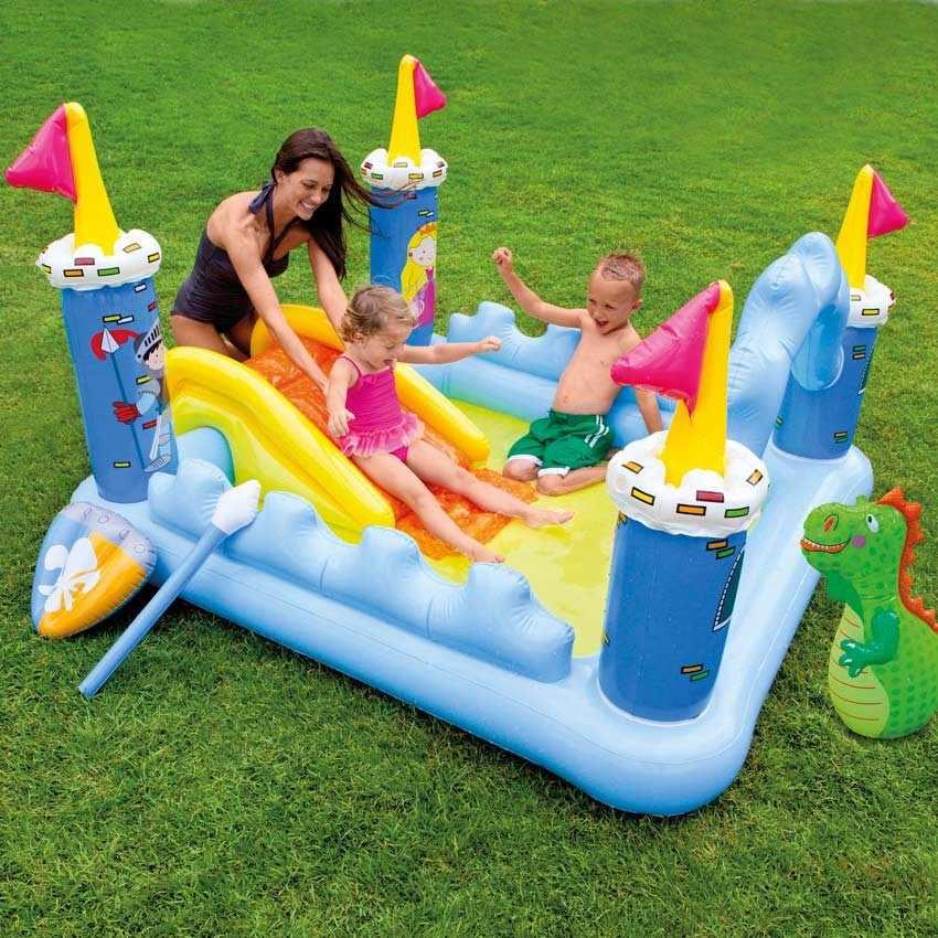 Piscina hinchable para niños Intex 57138 Fantasy Castle castillo de juego tobogán - migliore