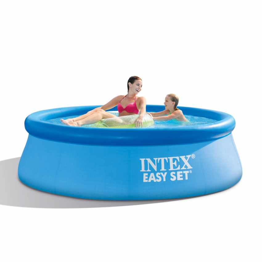Alle nye Intex 28112 Inflatable Round Above Ground Pool With Filter Pump 244x76 IK43