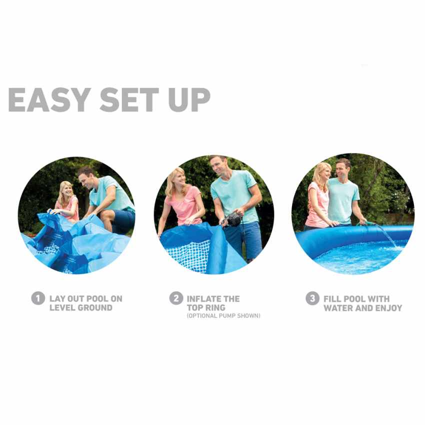 PVC Inflatable pool Intex 28112 244x76 Round Above Ground With Filter Pump - outdoor