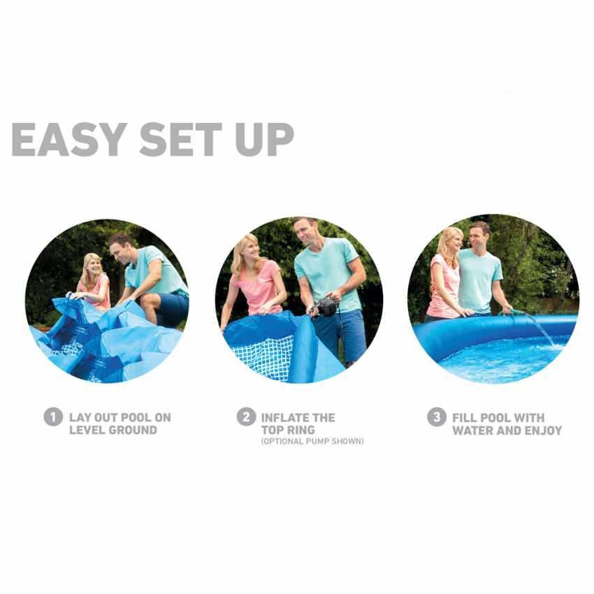 Intex 28122 Easy Set piscina fuori terra gonfiabile rotonda 305x76 - dettaglio