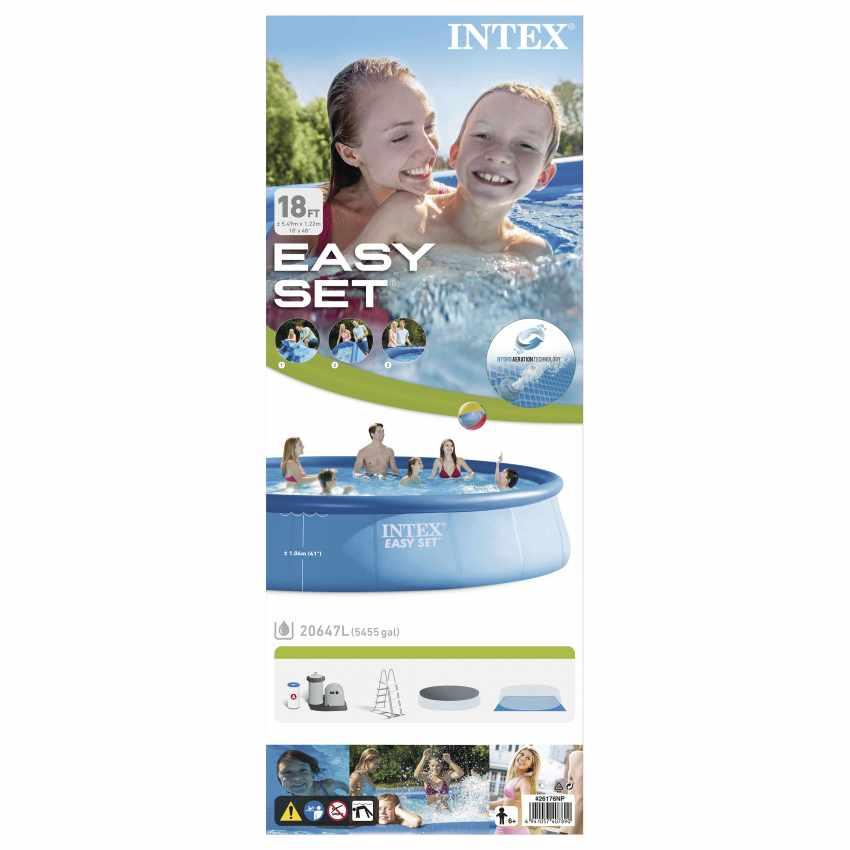 Piscina Intex 26176 ex 28176 Easy set Fuori Terra Rotonda 549x122 - immagine