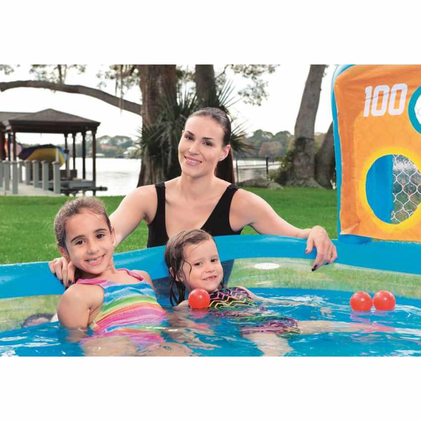 Piscina Infantil Hinchable Bestway 54170 con Portería Blancos y Pelotas - prezzo