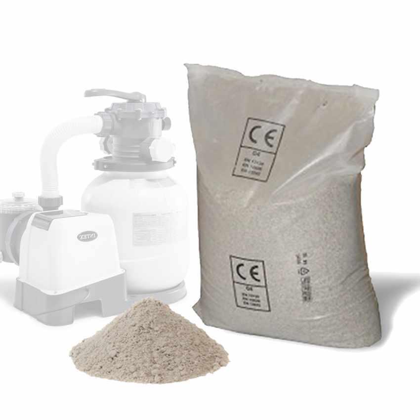 Sable universel pour pompe de filtration 25Kg piscines hors-sol Intex 29058 58201 Bestway - details