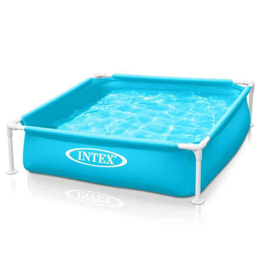 Intex 57173 piscina cuadrada Mini Frame para los niños - immagine