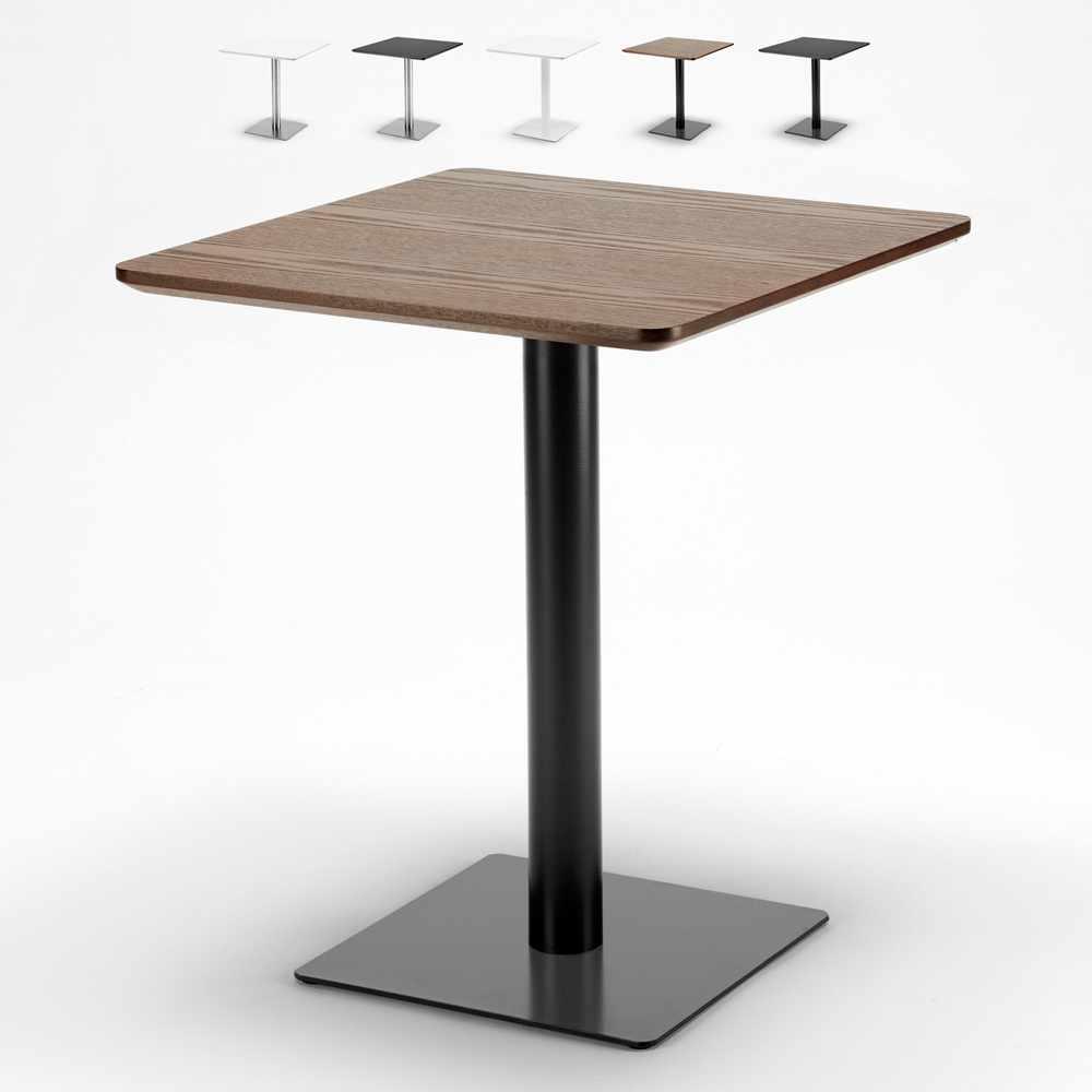 Tavolino 60x60 quadrato con base centrale per bar bistrot HORECA - best